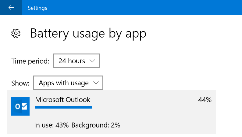 Check Battery Usage of an App