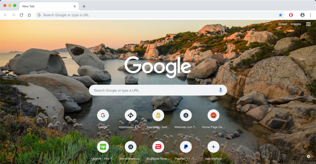 Chrome with Background Image