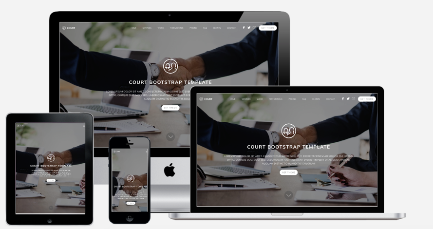 Court Bootstrap Template