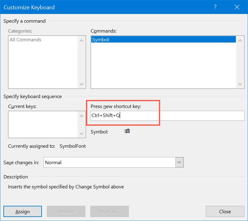 Create Custom Keyboard Shortcut