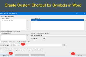 Create Custom Shortcuts for Symbols in Word
