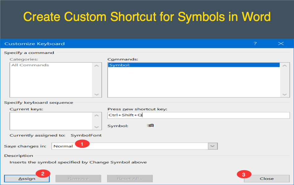 How to Create Custom Shortcuts for Symbols in Microsoft Word?