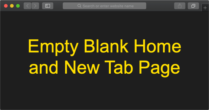 Empty New Tab Page in Safari