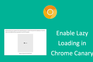 Enable Lazy Loading in Chrome Canary