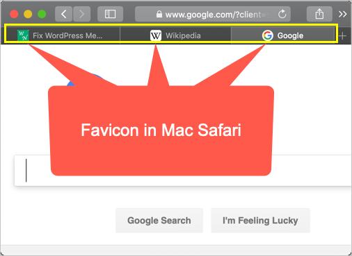 Favicons Shown in Mac Safari