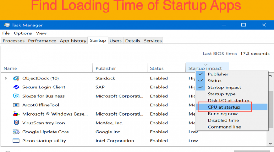 How to Find App Loading Time During Startup in Windows 10?