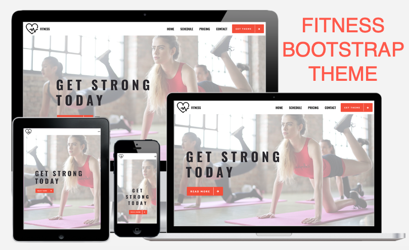 Fitness Bootstrap AMP Theme