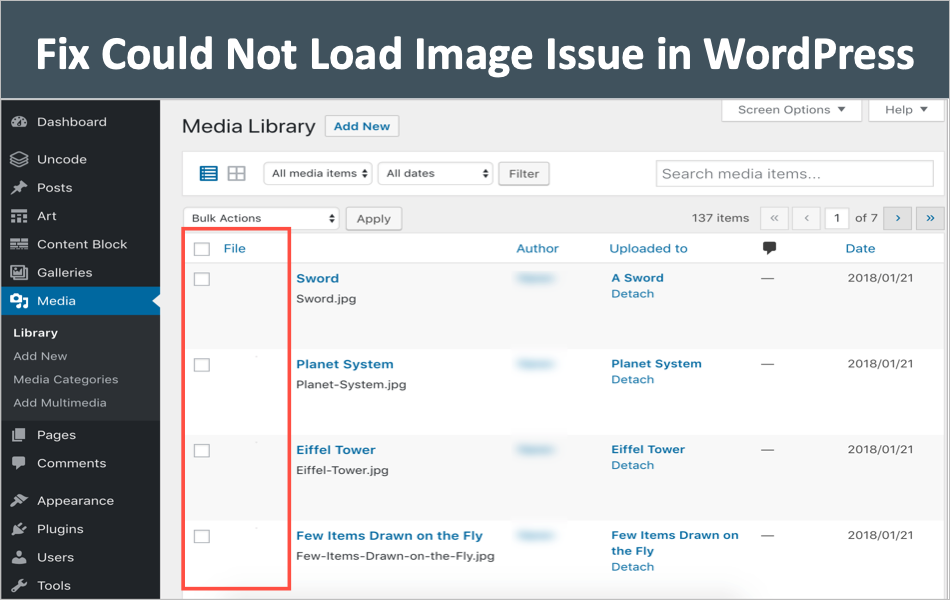 Fix Could Not Load Image Issue in WordPress