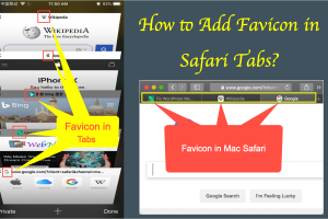 How to Add Favicons in Safari Tabs?