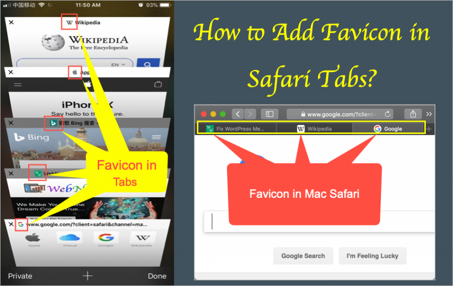 How to Enable Favicon in Safari macOS and iOS?