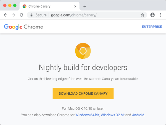 Install Chrome Canary Version