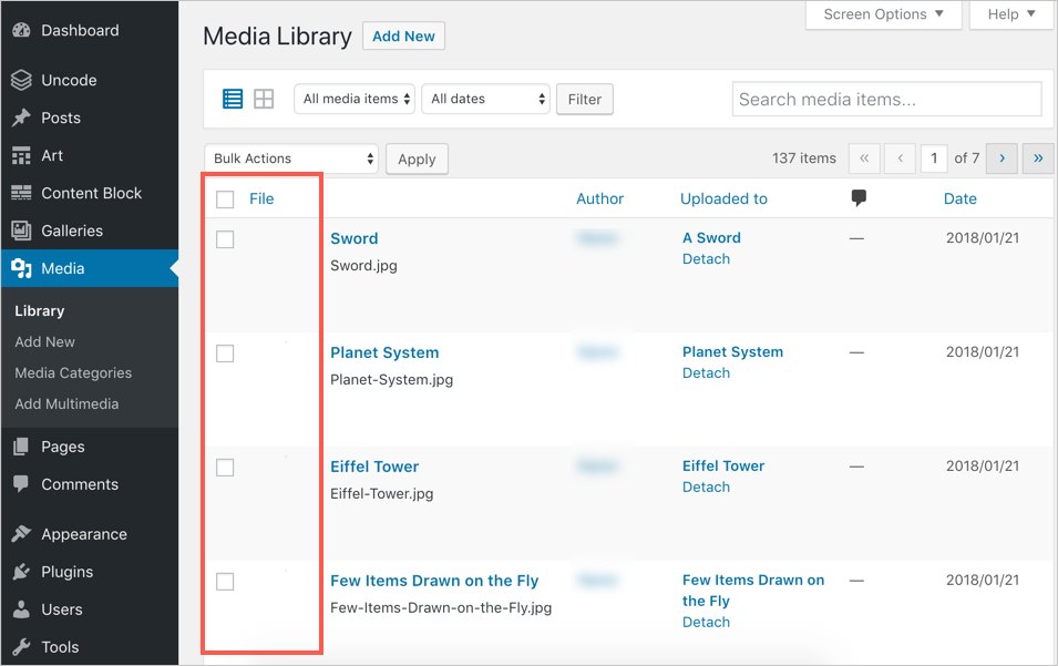 No Image Previews Showing in Media Library