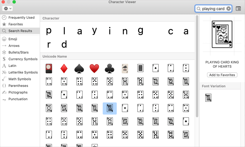 Alt Code Shortcuts for Playing Cards Suit » WebNots