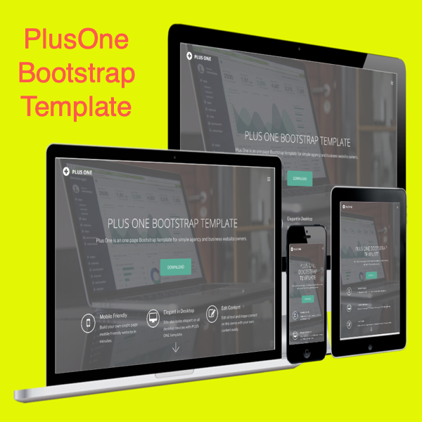 Plus One Bootstrap Template