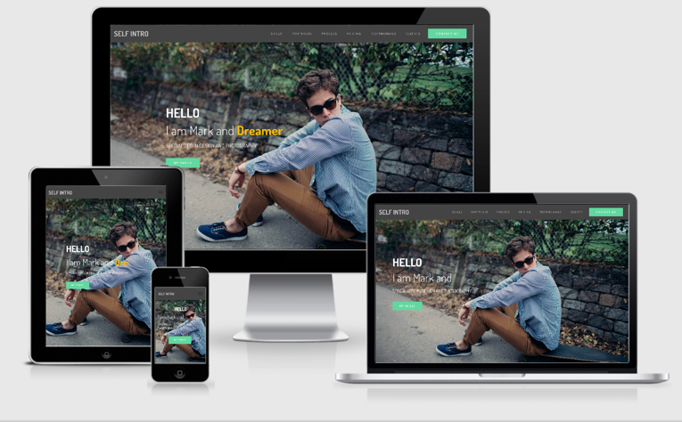 Self Intro Bootstrap 4 Portfolio Template