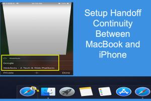 Setup Handoff Continuity Between MacBook and iPhone