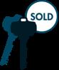 Sold Key Blue