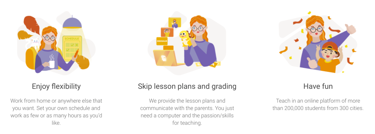 VIPKids Teachers Website in China