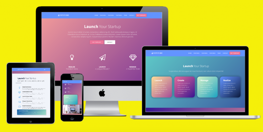 Venture Bootstrap Template