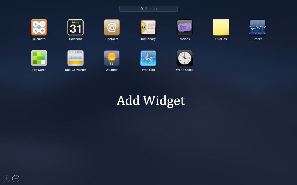 Adding Dashboard Widgets