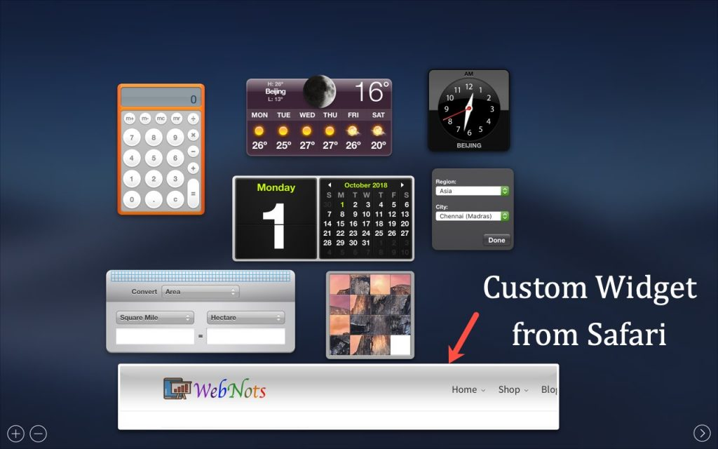 Custom Widget in Dashboard