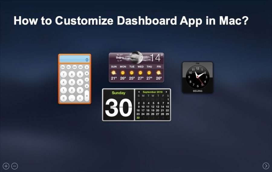 How to Customize Dashboard App in MacBook?
