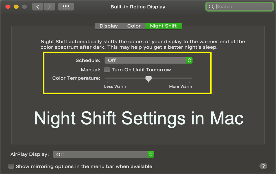3 Ways to Enable Night Shift Mode in Mac
