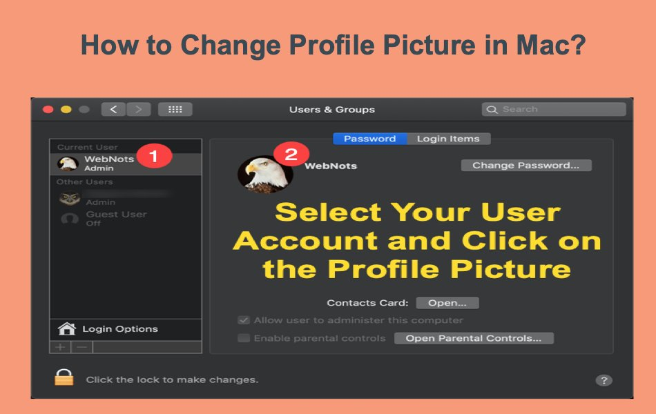How to Change Profile Picture on Your Mac?