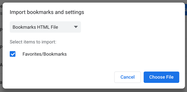 Importing Bookmarks from HTML File