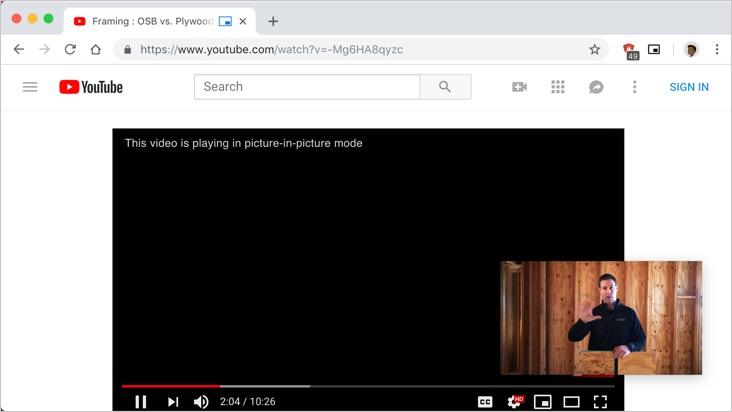PIP Mode Using Chrome Extension
