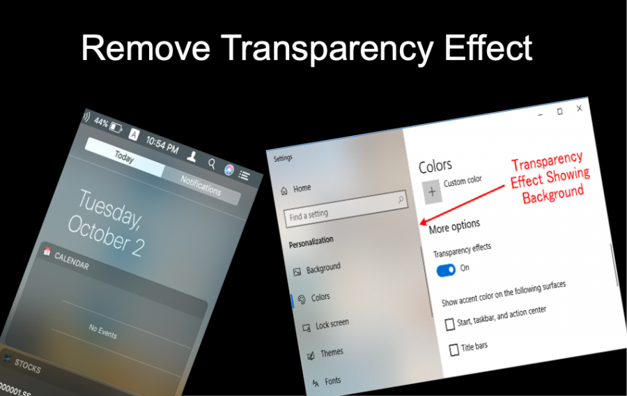 Remove Transparency Effect