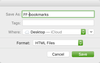 Save Firefox Bookmarks to Local Computer