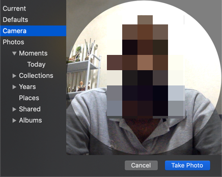 Use Camera to Take Profile Photo