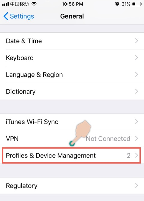 iOS Profile Management
