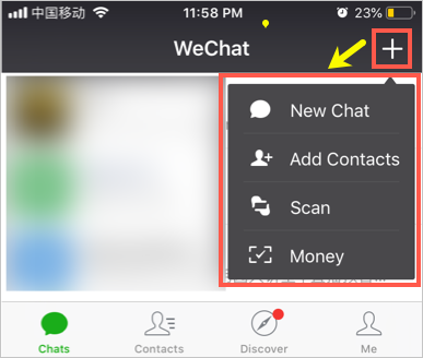 Adding People in WeChat