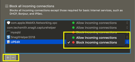 Allow or Block Apps in Firewall Settings