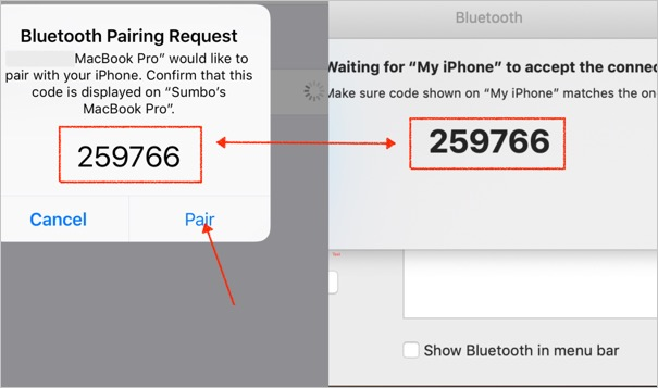 Bluetooth Pairing Passcode