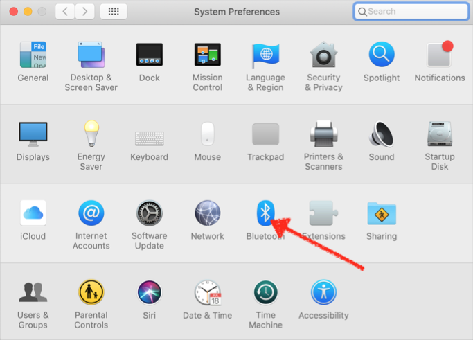 Bluetooth Preferences in Mac