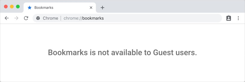 Bookmark Disabled in Guest Mode
