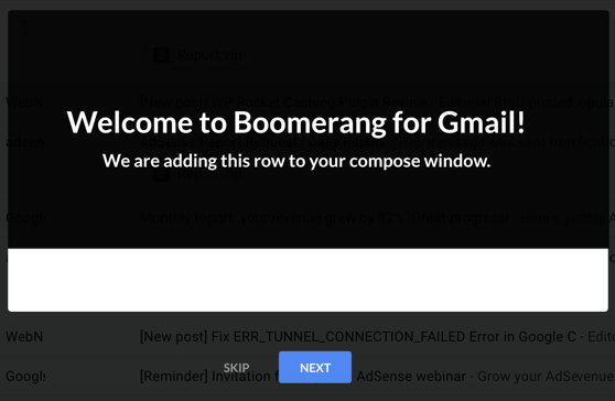 Adding Boomerang Extension in Google Chrome