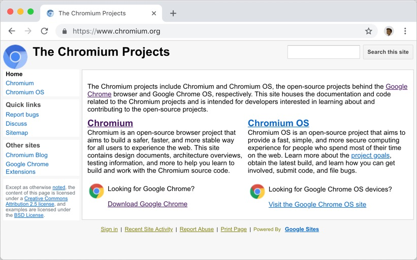 Chromium Official Site