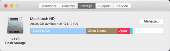 Cleanup Storage in Mac