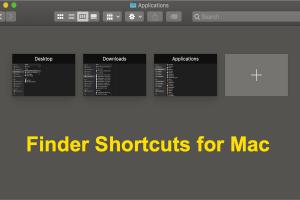 Finder Shortcuts for Mac