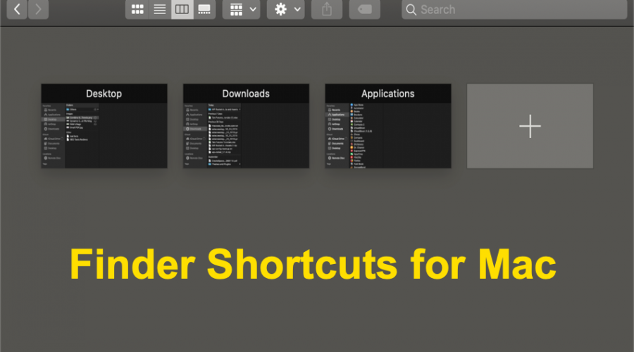 Finder Keyboard Shortcuts for Mac