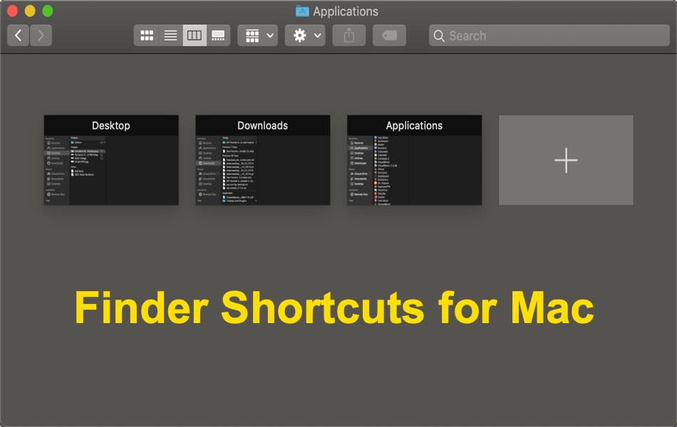 Finder Keyboard Shortcuts for Mac