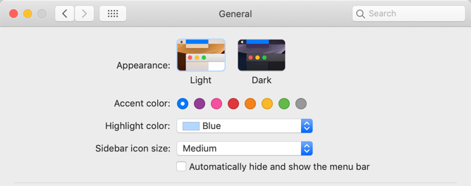 Change to Dark Mode in macOS