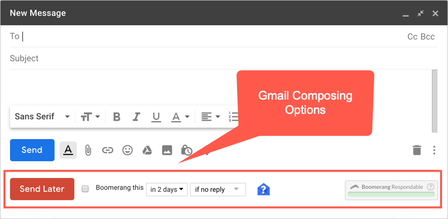 Gmail Composing Options