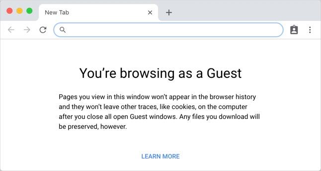 Google Chrome Guest Mode