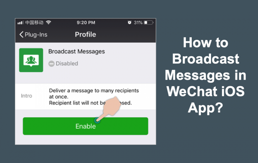 How to Send WeChat Message to Multiple People in iPhone?