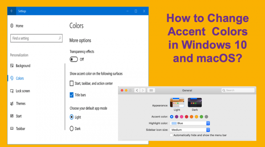 How to Change Accent Colors in Windows 10 and macOS?
